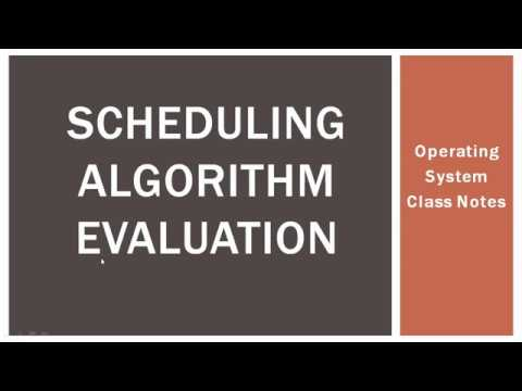 Scheduling Algorithm Evaluation | Operating system, Class notes