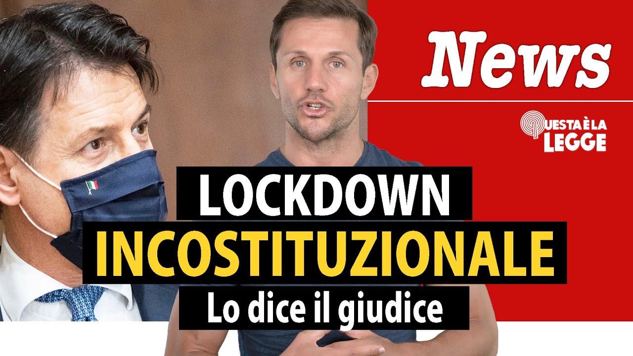 Lockdown incostituzionale: lo dice il giudice   avv. Angelo Greco