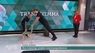 PT Michael tipsar om bra hemmaträning under coronaepidemin - Malou Efter tio (TV4)