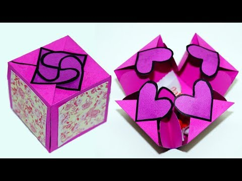 How to Make a craft ideas for gifts for Girlfriend   Gift box Sealed With Hearts