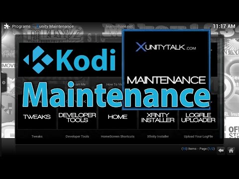 How to Clear Cache in KODI XBMC - Install Xunity Maintenance