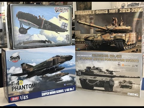 More NEW  kits Plus a review of Meng Merkava IV with Trophy system