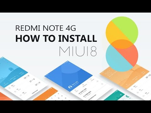 HOW TO INSTALL MIUI 8 TO REDMI NOTE 4G Using TWRP