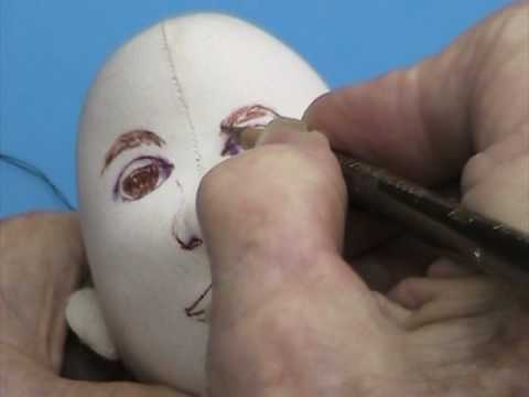 Coloring a Cloth Doll Face