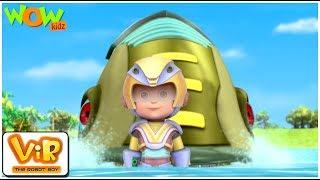 Vir The Robot Boy | Hindi Cartoon For Kids | Vir vs robotic piranha | Animated Series| Wow Kidz