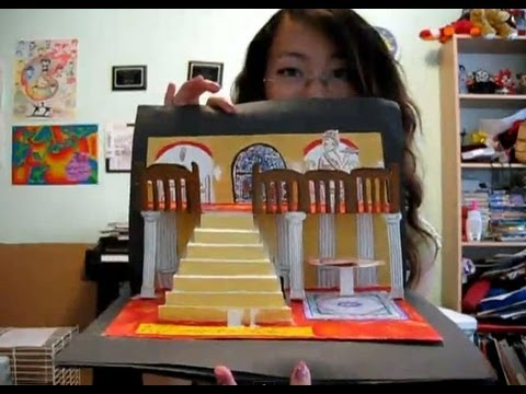 How to make a 3D pop-up card or book (re-upload)