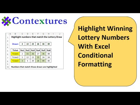 Highlight Winning Lottery Numbers - Excel Conditional Formatting