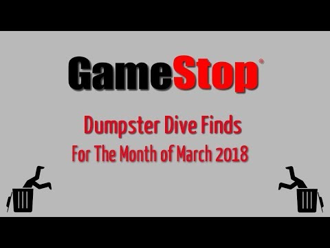 GameStop Dumpster Dive March. 2018 - Finds for the month