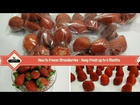 How to freeze Strawberries to keep Fresh up to 6 months | How to Store Strawberry | Kitchen Tips