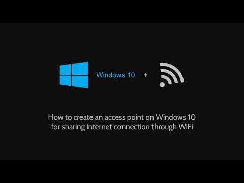 How to create an access point on Windows 10