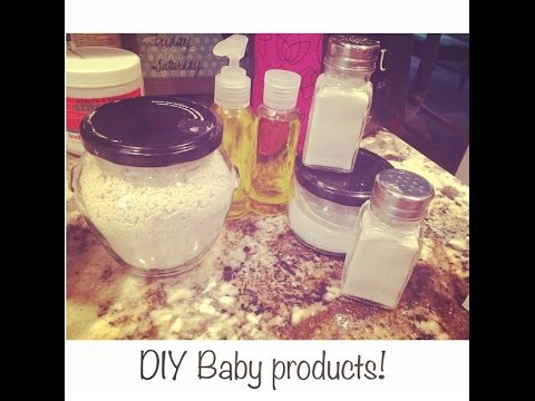 DIY Baby Products - Baby oil, Baby powder and Oat bath