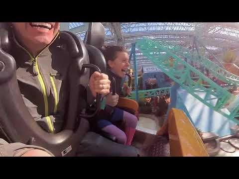 Spongebob's Rock Bottom Plunge Mall of America POV roller coaster