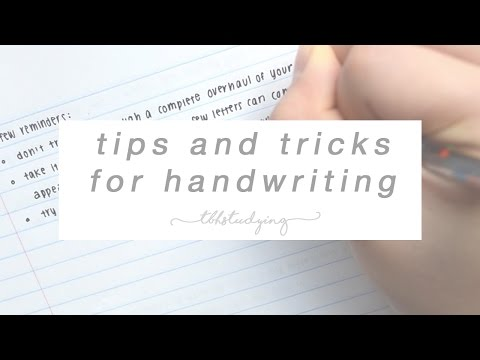 tips and tricks for handwriting