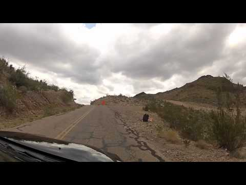 Historic Route 66 - driving from Oatman over Black Mountains