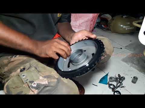 how to install new chain and sprockets - royal enfield bullet - bullet singh boisar