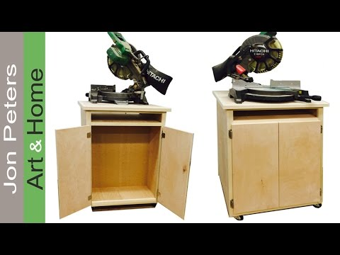Make this Double Sided Miter Saw Station, Great Storage!