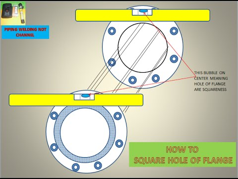 How to Square Flange and Hole of Flange and Pipe to Pipe