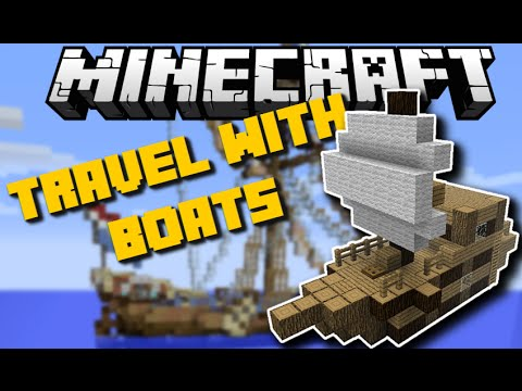 Minecraft: TRAVEL WITH BOATS MOD (Cruise Ships, Pirate Ships & More) Mod Showcase