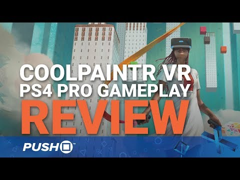 CoolPaintrVR PSVR Review: Tilt Brush for PS4 | PlayStation VR | PS4 Pro Gameplay Footage
