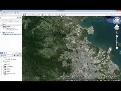 Google Earth Tutorial   How to save the Google Earth map you are creating as a kmz file
