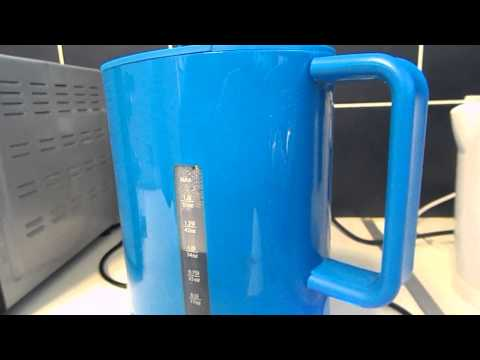 This is my new blue kettle to make a cup of tea or coffee