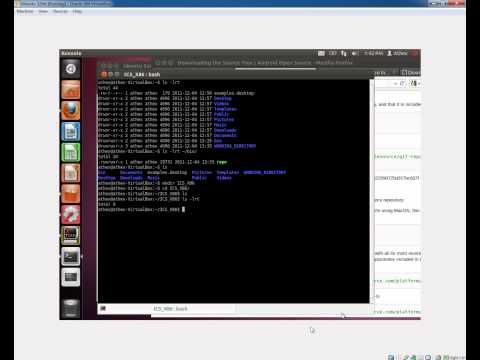 Building Android Ice Cream Sandwich for x86 using Ubuntu Linux Video #1