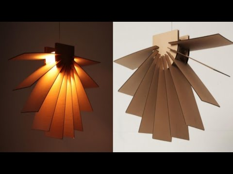 Pendant Hanging Lamp by cardboard || Diy diwali lanther || Awesome wall hanging