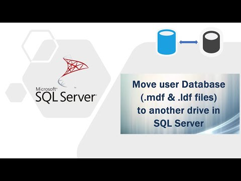 Move user Database (.mdf and .ldf files) to another drive in SQL Server