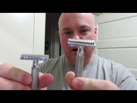 Basic Safety Razor and a three piece safety razor blade change