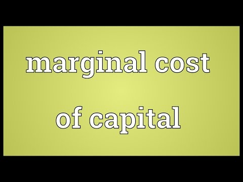 Marginal cost of capital Meaning