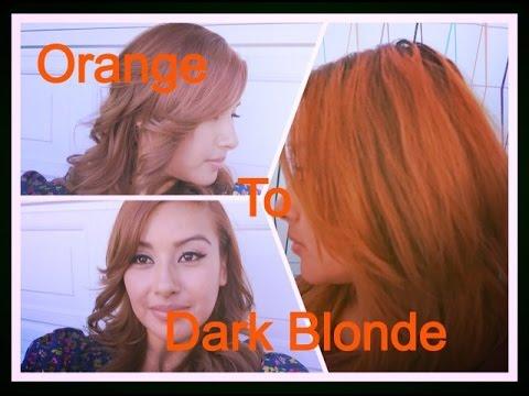 How I Dye My Hair From Orange to Dark Blonde |NoemiBeauti
