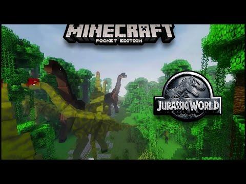Going To Jurassic World in Minecraft Pocket Edition | Minecraft PE (Pocket Edition) MCP | dinosaur