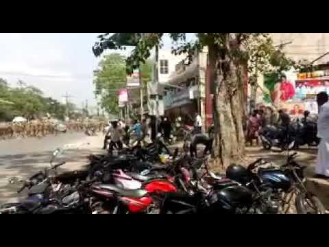 மக்கள் ஆவேசம் | தூத்துக்குடி ஸ்டெர்லைட் போராட்டம்  | police lathi charge
