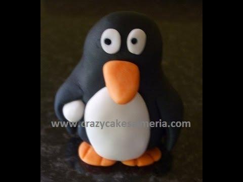 How To Make a Fondant Penguin cake topper for beginners