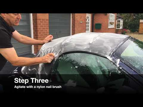 How to remove green mould from convertible soft top