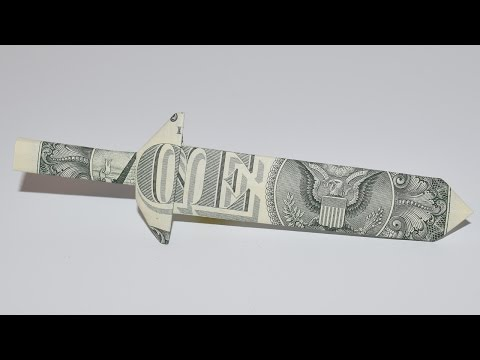 Dollar Origami: Excalibur Sword | 1 Dollar | Easy tutorials and how to's for everyone #Urbanskills