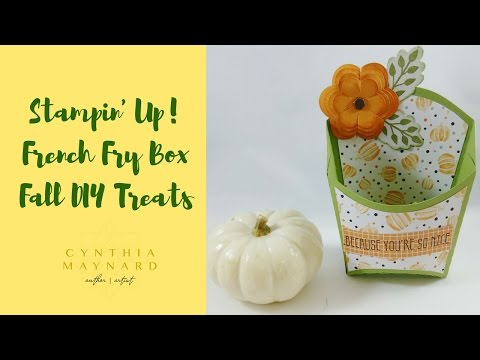 Silhouette Cameo 3 French Fry Box & Stampin' Up DSP Papers