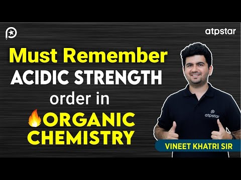 Must Remember this acidic strength order in Organic chemistry