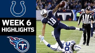 Colts vs. Titans | NFL Week 6 Game Highlights