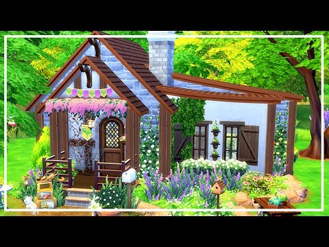 SIMS 4 COTTAGE TINY HOUSE 🍁 Speed Build + Download