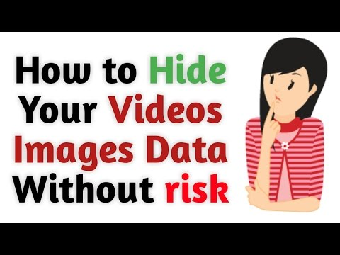How to Hide videos images data and files very easy steps
