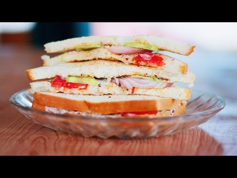 Tomato Cucumber Sandwich - Best sandwich for trips and picnics!