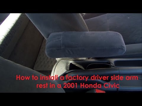 How to install a factory arm rest in a 2001 Honda Civic