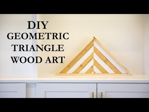 DIY Geometric Triangle Wood Art