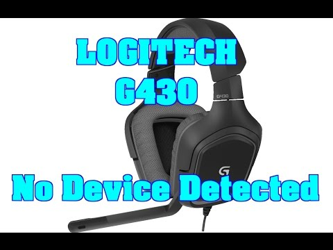 Logitech G430 No Device Detected FIX