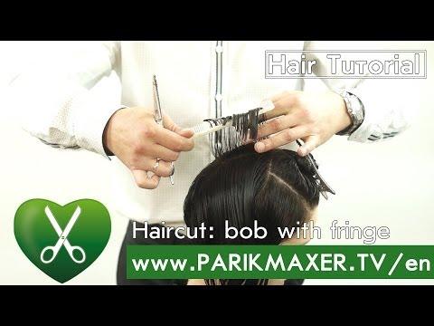 Haircut: bob with fringe parikmaxer tv english version
