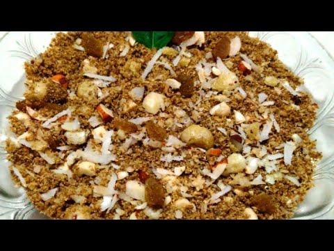 पंजीरी बनाने का तरीका||panjiri recipe for janmashtami||gujarati panjiri recipe