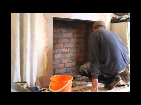 Fireplace breakout and Installation of Charnwood Country 4