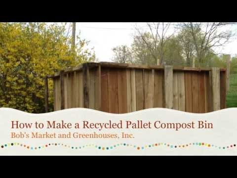 How to Make a Recycled Pallet Compost Bin