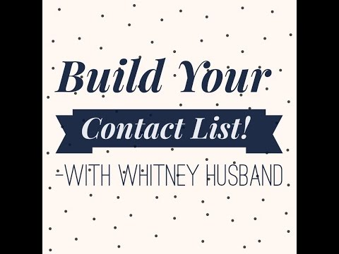 Build Your Business Contacts List